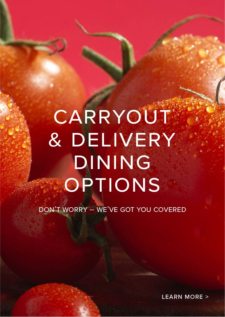 Carryout and delivery dining options